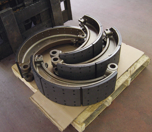 Relined Industrial Brake Shoes